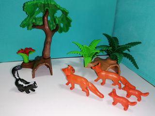 Playmobil lote bosque y animales 2