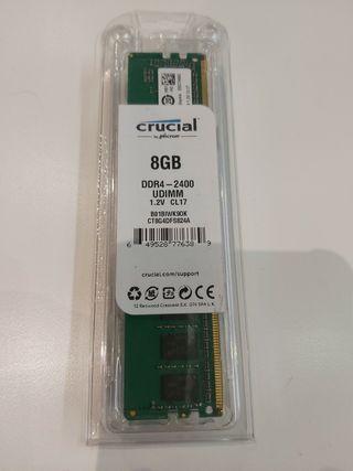 Modulo de memoria crucial de 8 gb ddr4
