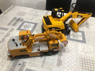 Excavadora y camión excavadora juguete