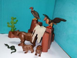 Playmobil lote western animales