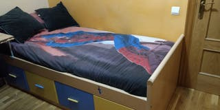 cama juvenil en venta + colchón