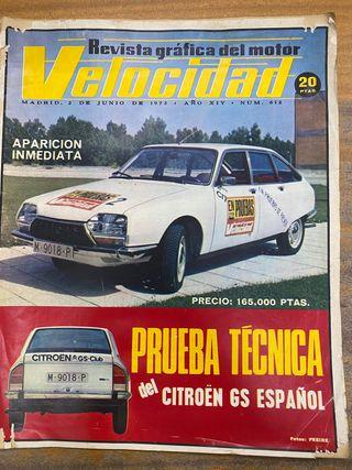 Revista velocidad junio 1973 citroen GS