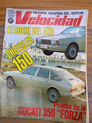 Revista velocidad sept 1977 crisler 150