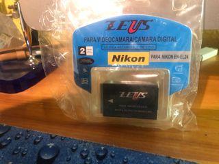 2 Baterías cámara Nikon EN-EL24