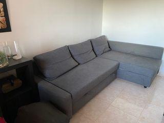 Sofá cama con almacenaje