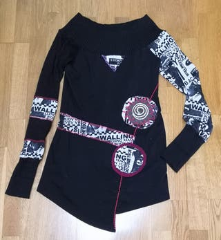 JERSEY LARGO TIPO DESIGUAL. MUJER. T.38