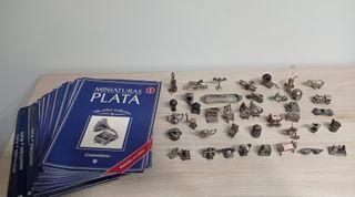 Colección 40 miniaturas bañadas en plata + 40 fasc