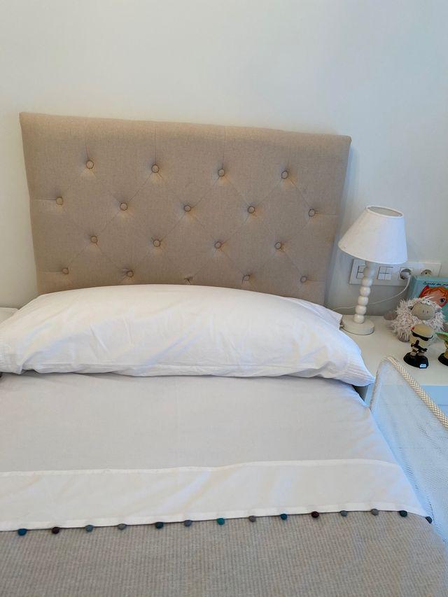 Cabecero capitone cama 90