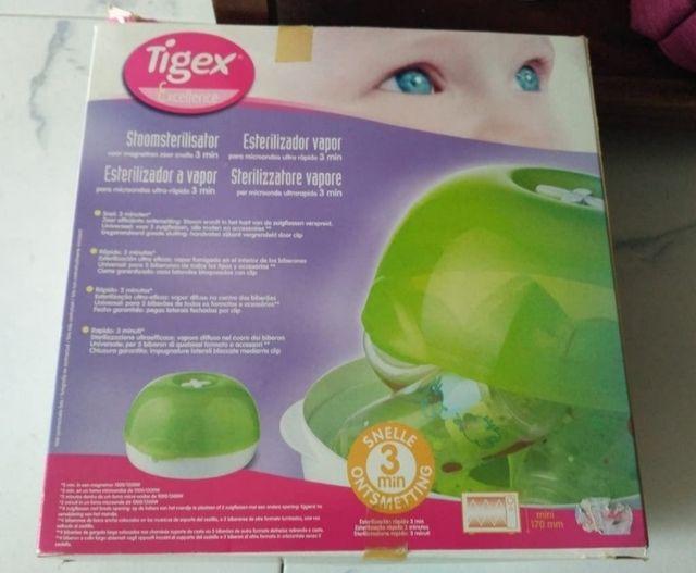 Esterilizador de biberones Tigex para microondas