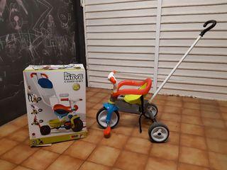 Triciclo smoby 3 en 1.