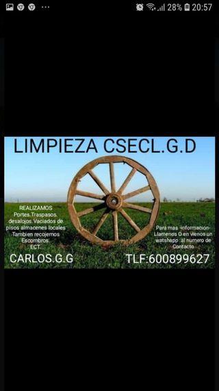 "limpieza csecl.g.d ""600899627"""
