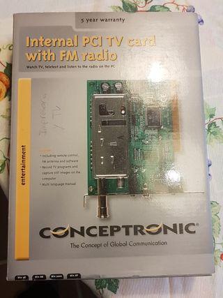 Internal pci tv card with fm radio conceptronic