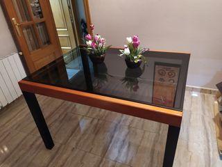 mesa cristal comedor