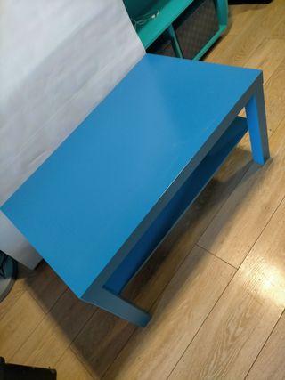 mesa LACK IKEA azul