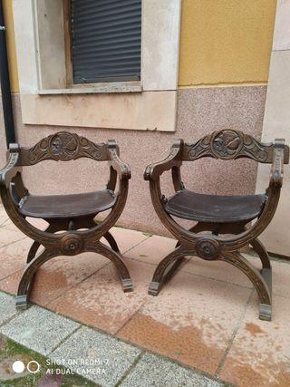 4 sillas antiguas jabugas