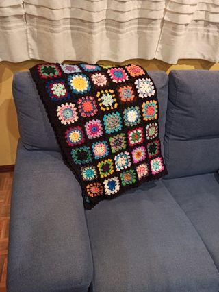 manta ganchillo/crochet recién hecha a mano