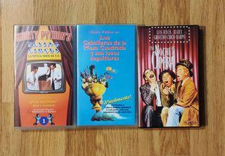 Lote VHS Monty python's y Hnos marx.