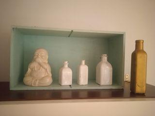 Caja decoracion con objetos