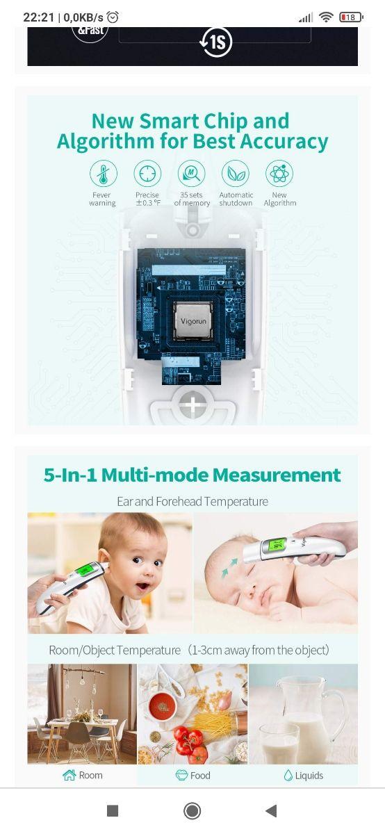 Termómetro digital Vigorun 5 en 1