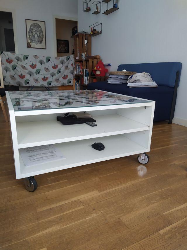 Mesa de centro con ruedas - IKEA BOKSEL