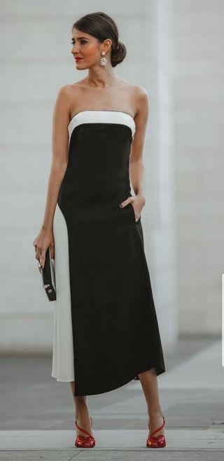 vestido combinado ZARA COLECCION