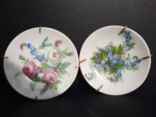 Platos de porcelana decorativos .Marca DHARMA.