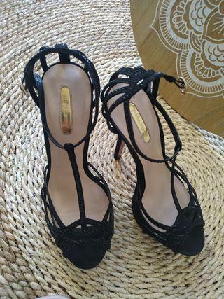 zapatos Salones tacones t. 39 sandalias fiesta