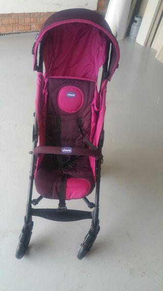 silla bebé con protector lluvia