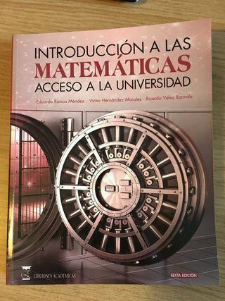 Libros acceso universidad. Matemáticas