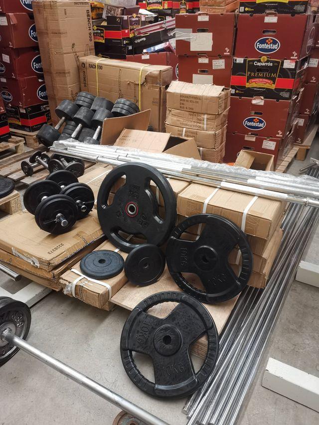 Mancuernas pesas de discos regulables