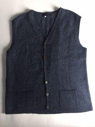 Jersey cardigan chaleco 80% lana 25€