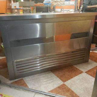 mesa mostrador Acero
