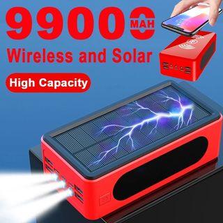 Cargador Solar portátil inalámbrico de 99000mAh,