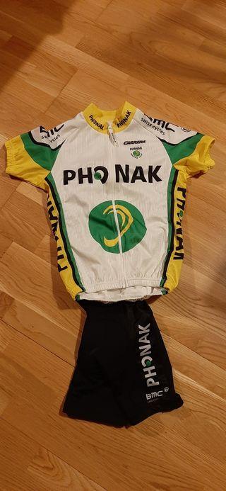 equipación ciclismo, ropa ciclismo para niño