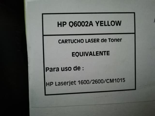 Cartuchos de impresora.