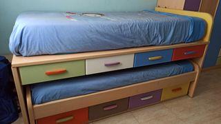 cama nido infantil/juvenil 2 camas