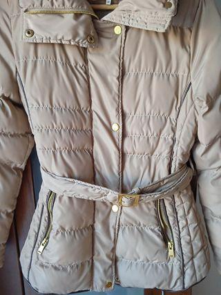 Abrigo plumas El Corte Inglés champagne talla M