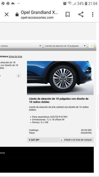 Lanta 18 pulgadas Opel