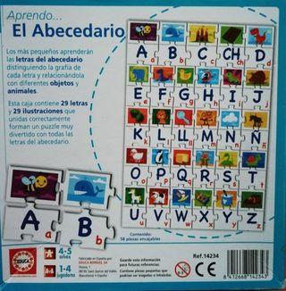 Regalo puzzle abecedario.