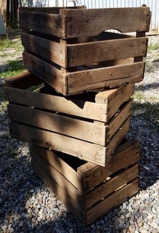 cajas de madera. lote de tres