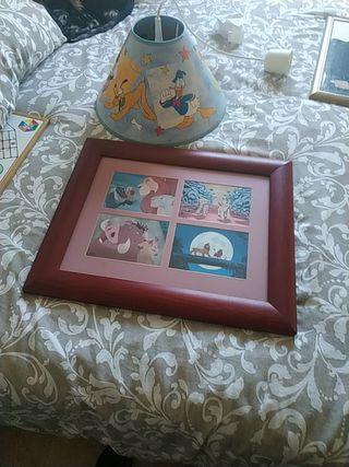 cuadro Disney y lampara infantil