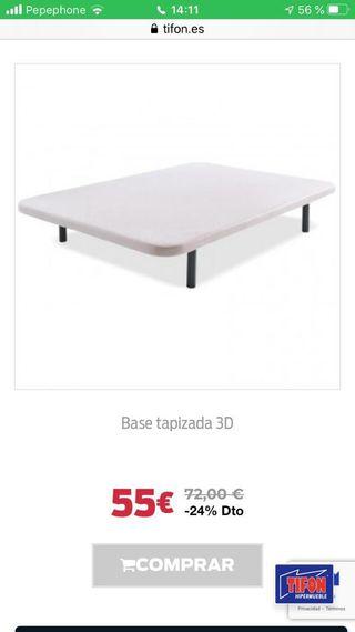 BASE TAPIZADA 3D.