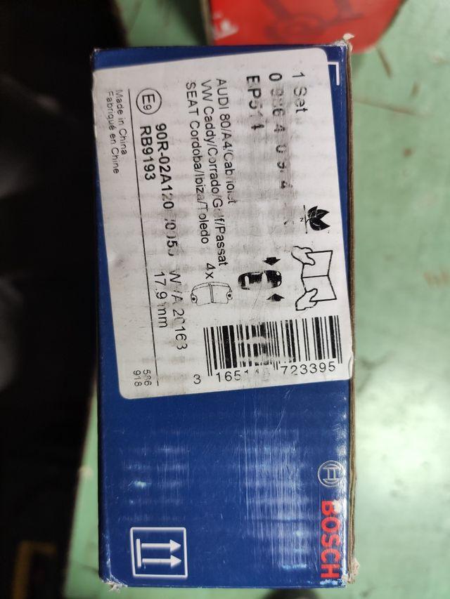 Discos TRW y pastillas de freno Bosch nuevos