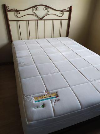 Canapé+colchón visco+cabecero forja
