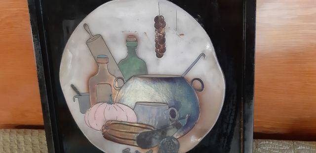 cuadro con plato