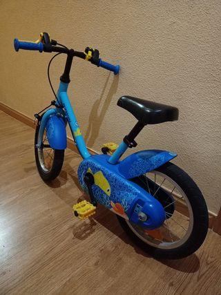 "Bicicleta infantil niño/niña 14"". Impecable."