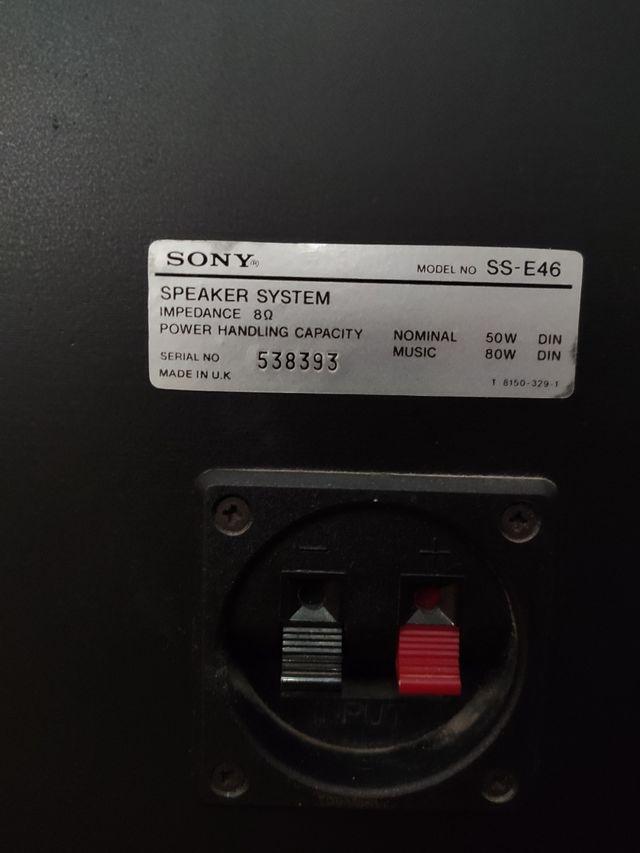 Altavoces Sony SS 46