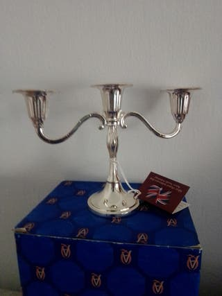 Candelabro Silver Plated. Made in England Nuevo!!!