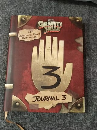 "Libro en inglés ""Gravity Falls Journal 3"" Disney"
