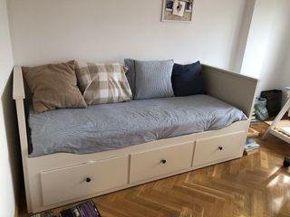 Sofá cama doble con cajones
